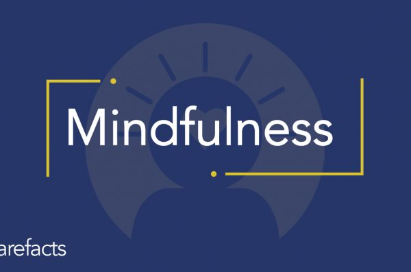 text: mindfulness with blue background