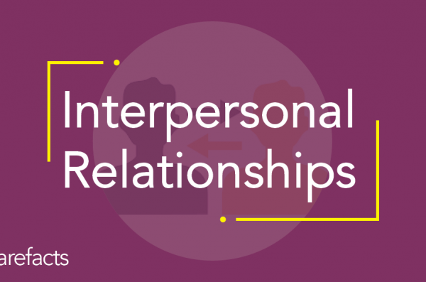 text: interpersonal relationships with purple background