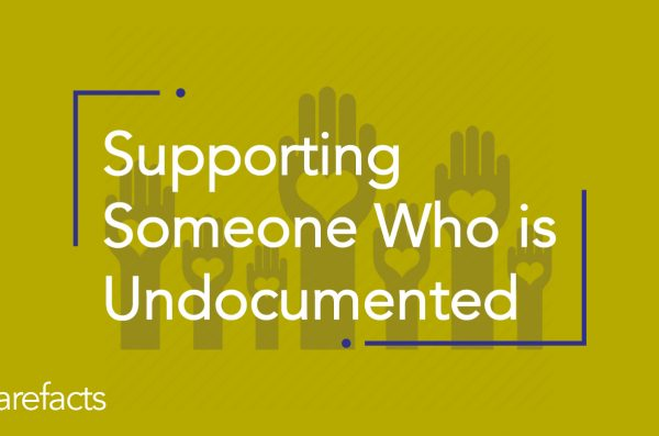 text: supporting someone who is undocumented in yellow background