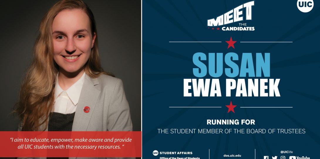 headshot photo of candidate running for Student Trustee
