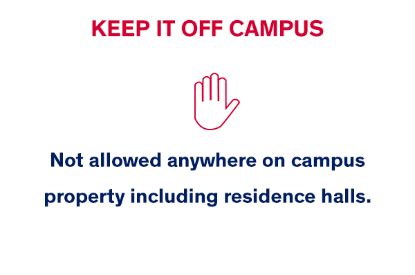 Keep it off campus
