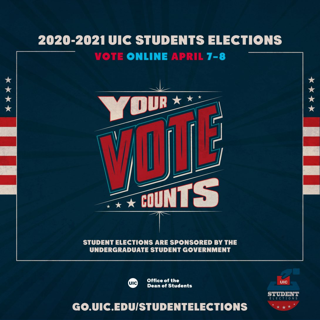 American flag colors, text: Your vote counts