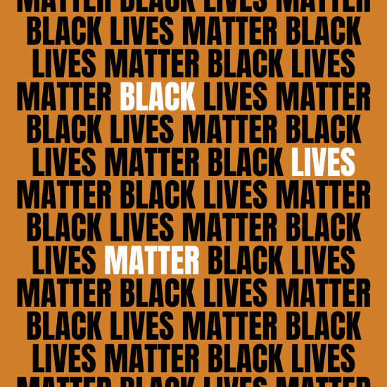 Black Lives Matter text repeatedly